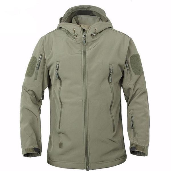TAD High Quality Winter Shark Skin Military Windproof Tactical Softshell Jacket Men Waterproof Army soft shell Coat windbreaker