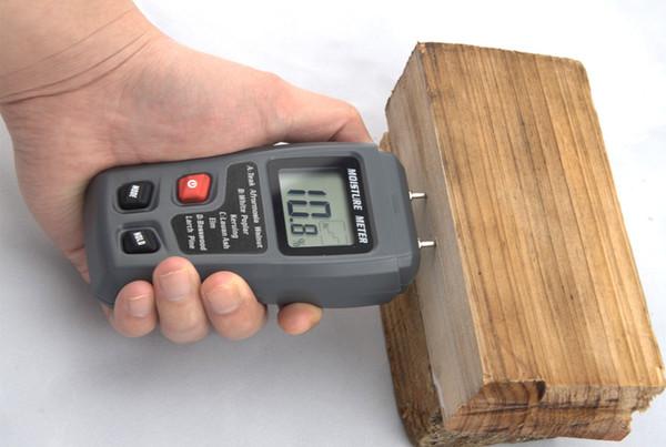 Medidor de humedad tipo de aguja medidor de humedad de madera EMT01 medidor de humedad de madera madera