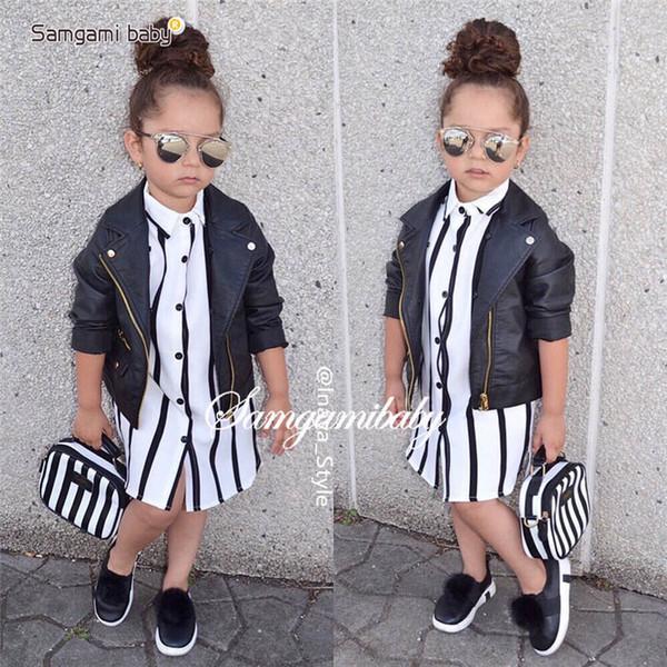 best selling Ins stripe Girls Shirts long Kids Shirts Fashion Girls Long Sleeve T Shirts Children Shirt kids designer clothes kids clothes A4471