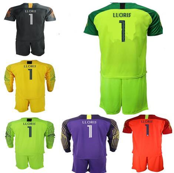 2019 Copa do Mundo adultos jérseis goleiro Nº 1 Lloris Long Sleeve goleiro Camiseta Kits de uniformes GRIEZMANN Mbappé Pogba