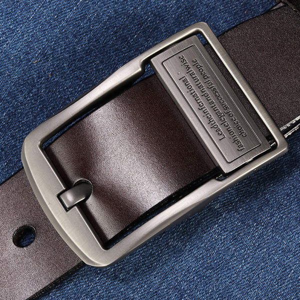 belt men leather belt men male genuine leather strap luxury pin buckle belts for cintos masculinos