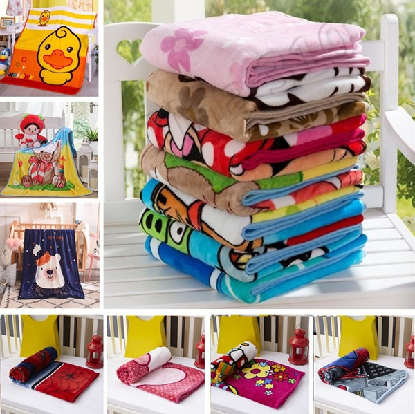 best selling Home Kids Blankets Flannel spider Cat  dog styles Warm cartoon Blankets Smooth Flannel Blankets Baby Beddings Swaddling Blanket 100*140cm