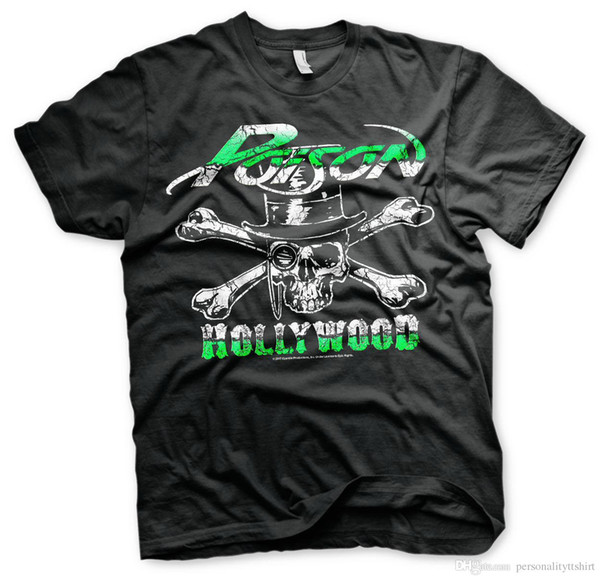 Poison sous licence officielle - Hollywood Skull Tee shirt Homme S-XXL Tailles
