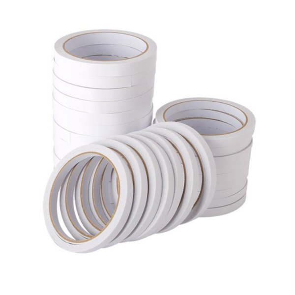 top popular 2016Office supplies shredded tape 5mm wide white double-sided adhesive high-viscosity strong double-sided adhesive 2016 12 meters stationery 2019
