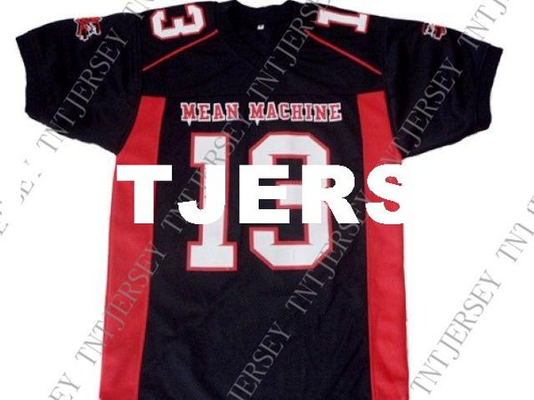 wholesale Jason Voorhees #13 Mean Machine Longest Yard Football Jersey Black Stitched Custom any number name MEN WOMEN YOUTH Football JERSEY