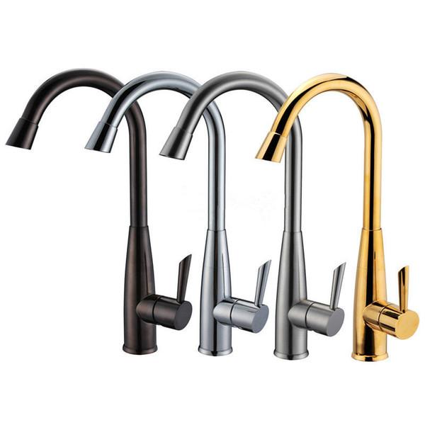 Homedec Homedec New Brushed Nickel ORB Chrom Golden Kitchen Sink Spray Stil Mischbatterie Wasserhähne