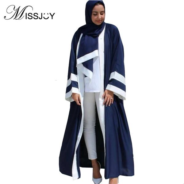 Dubai Kaftan Cardigan Con Hijab Abaya Abito musulmano Donna Manica lunga Bangladesh Abito maxi islamico turco Kimono Abiti con cappuccio