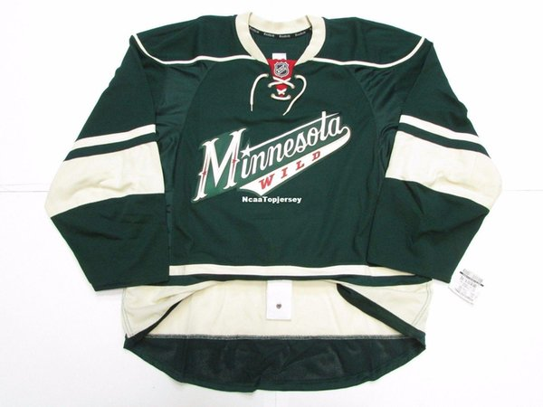 Cheap custom MINNESOTA WILD THIRD TEAM ISSUED EDGE 2.0 7287 JERSEY stitch add any number any name Mens Hockey Jersey XS-6XL
