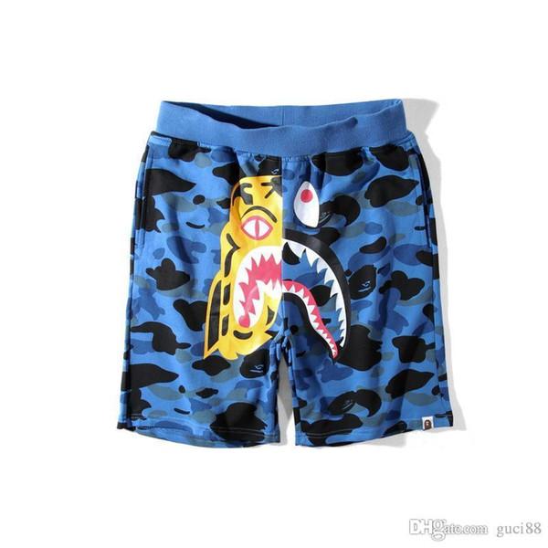 Sommer Flut Marke Ape Hosen Camouflage Cartoon Justin Bieber Männer Casual Hosen aus Teenager Baggy Shorts Weiß Herrenhosen Angst