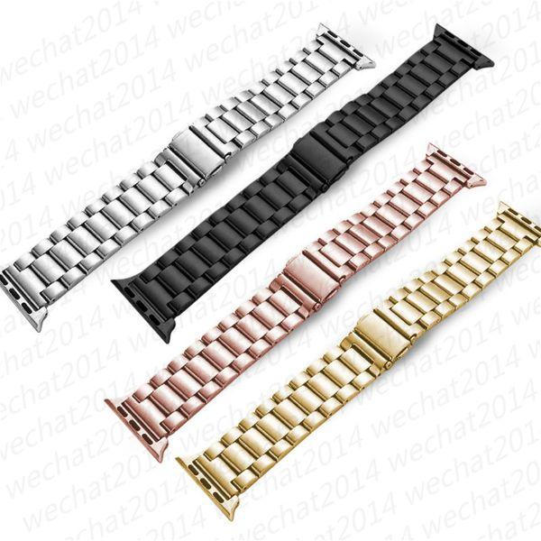 100 UNIDS Correa de banda de metal de acero inoxidable para reloj de manzana 3/2/1 42 38 mm enlace pulsera brazalete Correa de reloj para iWatch Accesorios