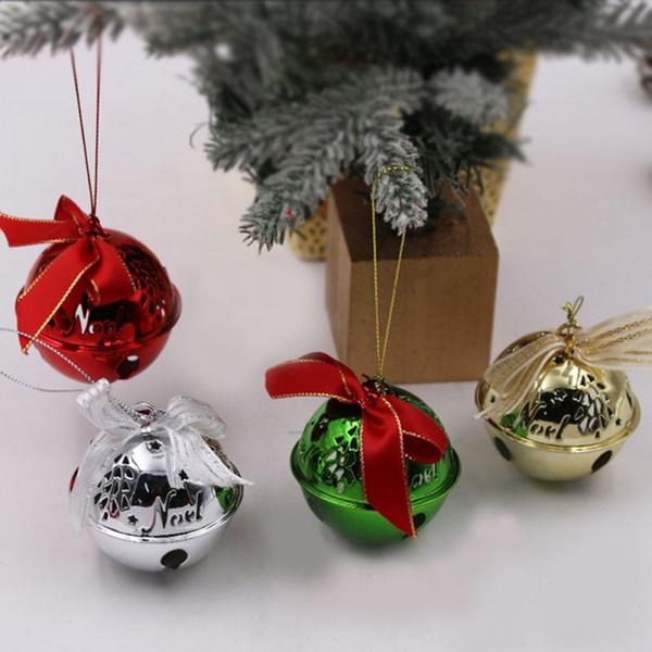 Cloche de Noël Décorations de Noël Arbre Hanging Décoration clochette Arbre Décoration de Noël Décorations de Noël Party Pendentif cadeau Craft