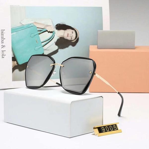 Mode Femmes Designer Lunettes De Soleil De Luxe Lunettes De Soleil Marque Adumbral Lunettes UV400 Modèle MM 9005 4 Couleurs En Option Nouvelle Haute Qualité avec Boîte