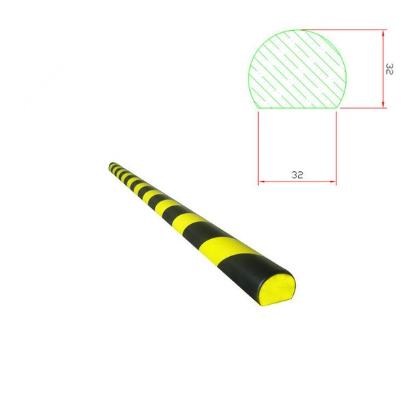Hot Sale Factory Price Spot Black and Yellow Table Corner Head Anti-Collision Strip Yellow and Black Warning Anti-Collision Strip Polyuretha Brand 3M Color Classification black and Yellow U-Shaped Black and Yellow Small L Black and Yellow Large L Black and Yellow F