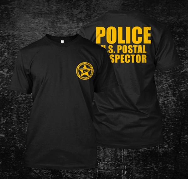 Свободные черные мужские футболки Homme Tees США инспектор почтовой полиции - Мужская футболка с принтом футболки мужская C19041901