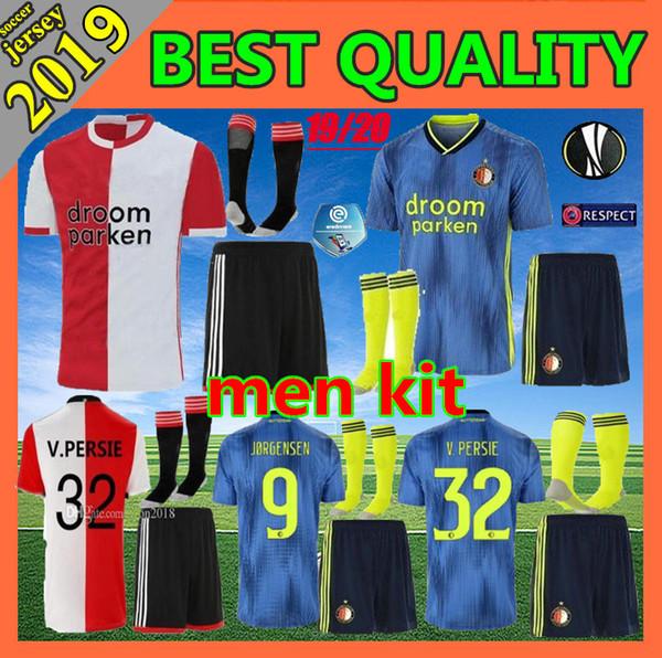 Erkekler kit 2019 Feyenoord futbol formaları ev sahibi 2019 2020 11 LARSSON 32 V.PERSIE 19 BERGHUIS 10 VILHENA 9 JORGENSEN futbol formaları