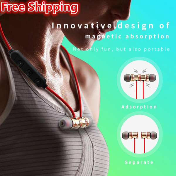 top popular Free Shipping XT16 Headphones 4.2 Wireless Stereo Earphones with Mic Earbuds Bass Headset for i-Phone Samsung LG smartphones with Retail Box 2021