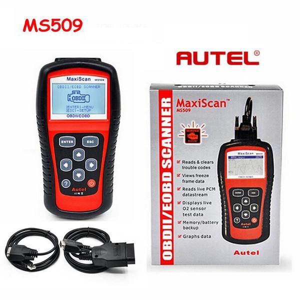 MaxiScan Диагностический Инструмент MS509 Autel MS OBDII OBD2 EOBD Автомобильный Считыватель Кода Сканер Работа для США, Азиатско-Европейский Автомобиль
