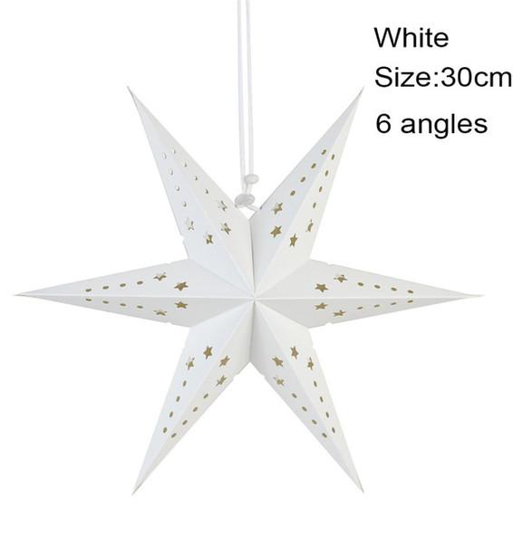 6 angles 30cm blanc
