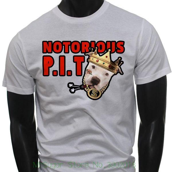 Dog Lover Rule World Notorious P.i.t Pitbull Mens White T-shirt 100 % Cotton T Shirt For Boy