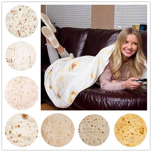 Venda quente México Cobertor Tortilla 3D Impresso Manta Cobertor de Ar Condicionado Cobertor de Lance Cobertor de Banho Toalha Macia Tapete de Yoga 60 Polegada