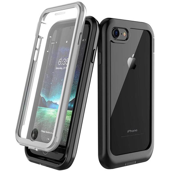 Tam Vücut Darbeye Kapak iphone 7 8 Artı x xs xr xsmax Durumlarda Dahili Ekran Koruyucu ile 360 Koruma Kabuk Coque