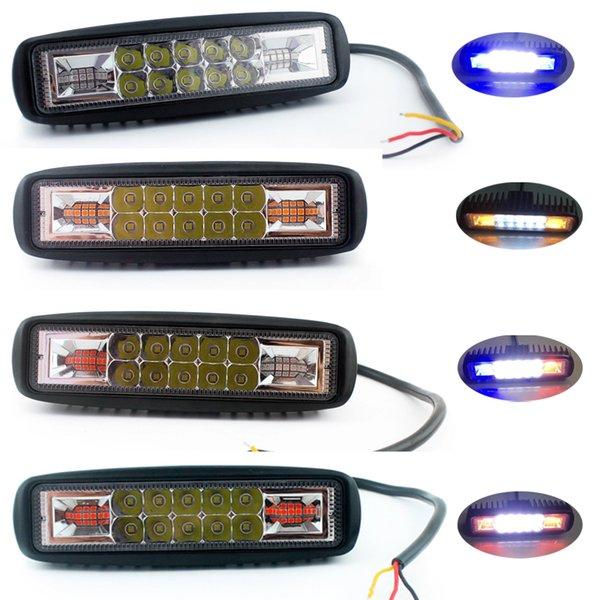 GSEAtech Off Road 4x4 Accessori auto LED Bar Slim 24V LED luminoso luminoso da lavoro 12v 6 pollici luci di lavoro ambra per trattori