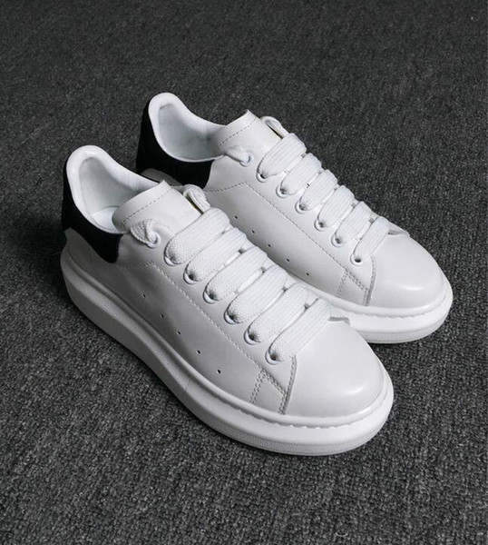 Tasarımcı Lüks Kadınlar Adam Casual spor Ayakkabı Deri Bayan Bayan Moda Beyaz Deri rahat Ayakkabılar Düz Rahat Ayakkabılar Günlük Koşu