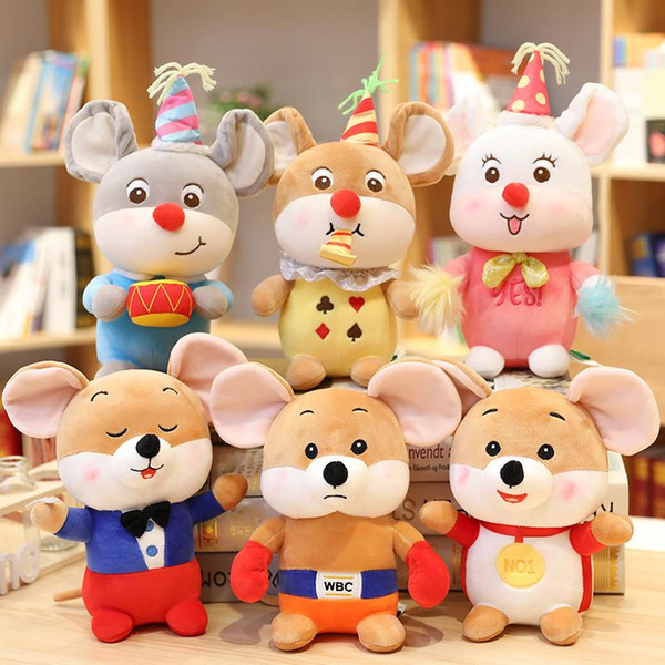 25cm Mouse Stuffed Animal Collectible Plush Toys Pillow Car Decoration Cute Valentine's Day Gifts Hot Toys Dolls