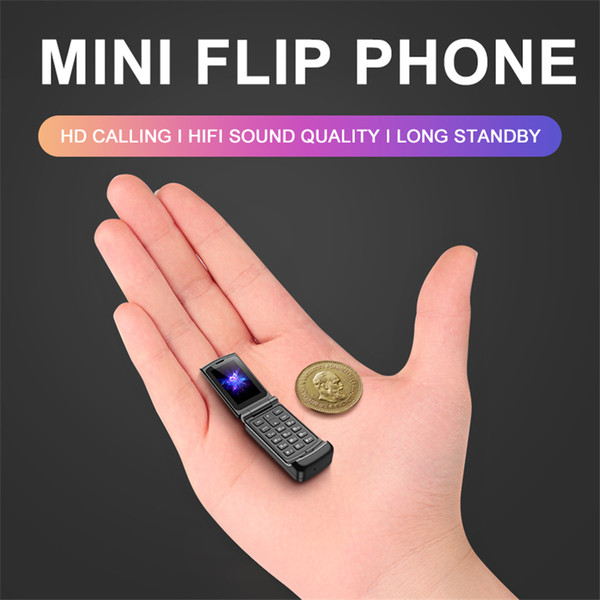 best selling New Smallest Flip Cell phones Original Ulcool F1 Intelligent anti-lost GSM Bluetooth Dial Mini Backup Pocket Portable Mobile Phone for Kids