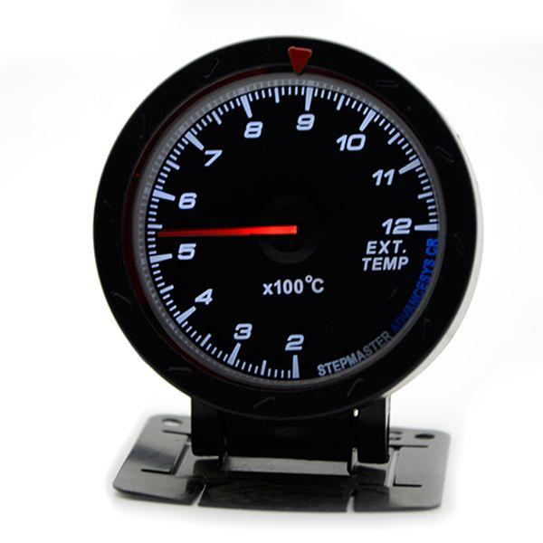 2.5-дюймовый 60 мм 12 в автомобиль датчик метр выхлопных газов Temp датчика EGT черный лицо без логотипа