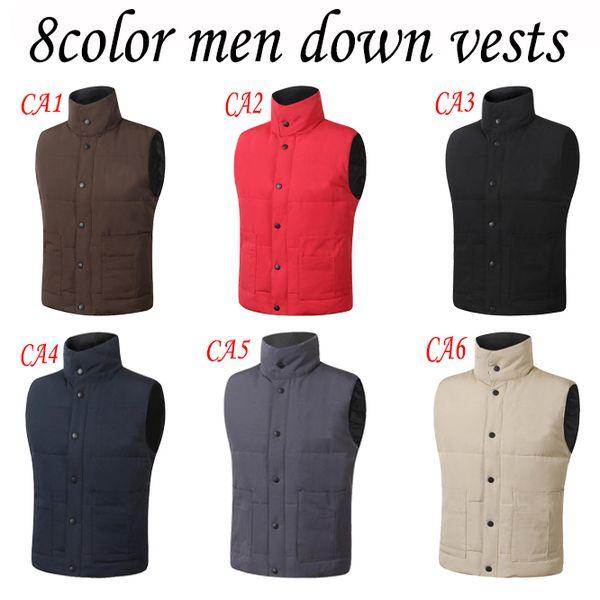 Frete grátis Marca jaqueta de inverno Mens FreeStyle Vest Ganso Colete Para Baixo Do Colete Para Baixo jaqueta 5 cor