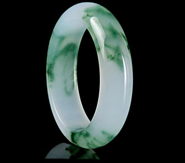 52-66mm Diamètre Intérieur Grade A Haute Qualité Naturel Birmanie Jade Bracelets Fine Gemstone Jade Bracelet Bijoux Pour Femmes Cadeaux J 190513