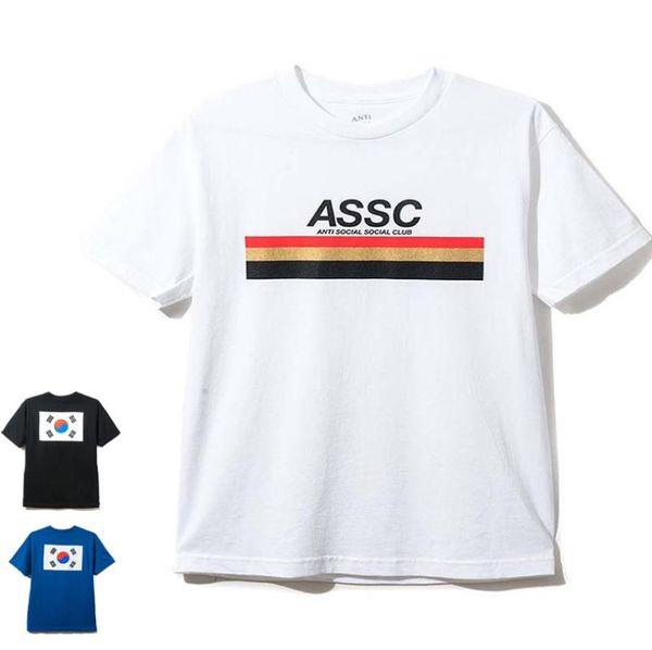ASS Mens Tshirts Kanye Fashion Letters Anti Short Sleeved Tees T-shirts Skateboard Tops