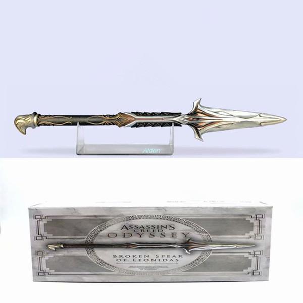 Assassins Creed creativo Connor manga Flecha La lanza de Onidas arte del arte del regalo de cumpleaños de PVC Acción de colección modelo de juguete los 57CM CAJA G461