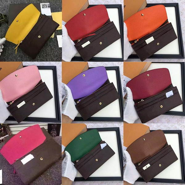 best selling free shpping Wholesale red bottoms lady long wallet multicolor designer coin purse Card holder original box women classic zipper pocket