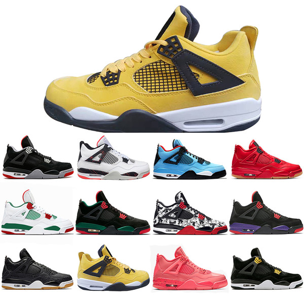High Quality Bred Tattoo 4 IV 4s Men Basketball Shoes Travis Pizzeria Singles Day Black cat mens trainers designer Sports Sneakers US 7-13