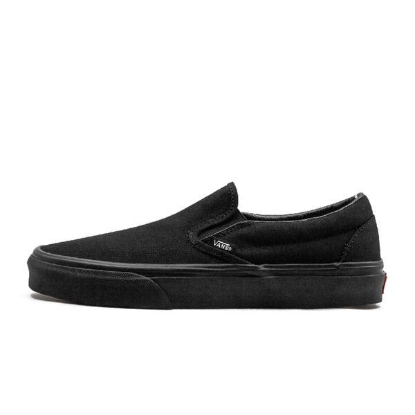 slip on triple black