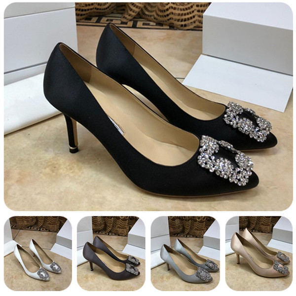 Women High Heels Dress Shoes Party Fashion Girls Sexy Pointed Toe Shoes Pumps Wedding Shoes Heels 6.5cm with box size 35-41