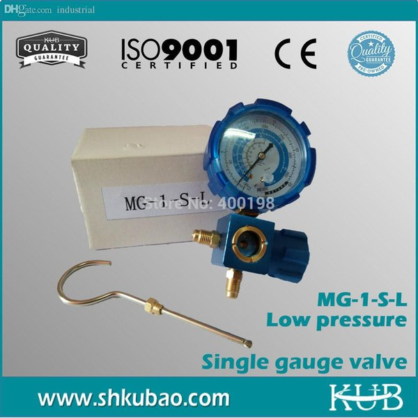 -Free shipping Refrigerant pressure gauge with Sight Glass refrigerant table psi kpa Low pressure gauge