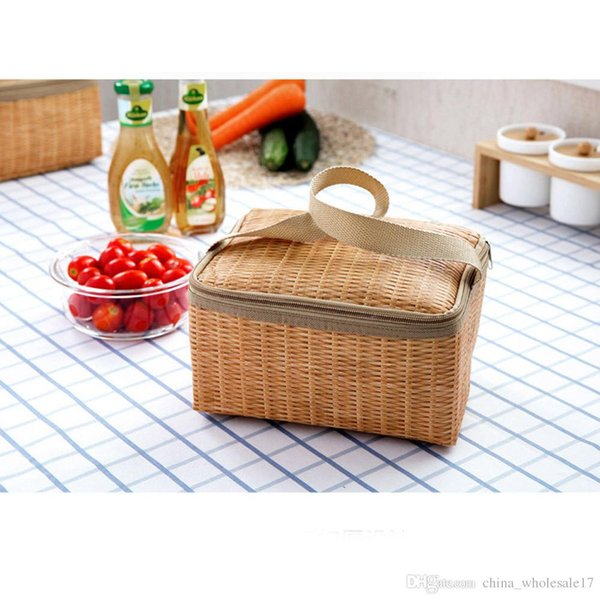 2018 new lunch bag food picnic wine bags for women children Portable Insulated Thermal Cooler Lunch Box Tote Storage