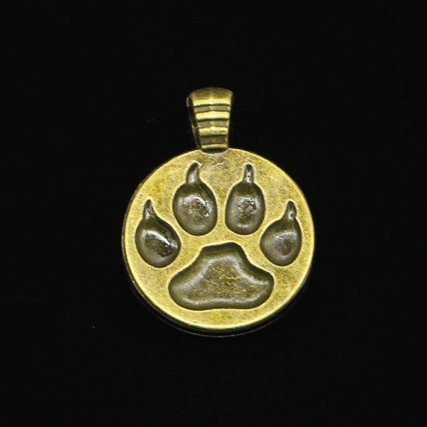 50pcs Charms bear paw Antique Bronze Plated Pendants Fit Jewelry Making Findings Accessories 21mm