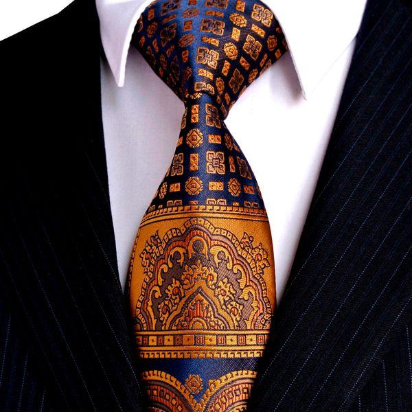 Multicolore Marron Or Jaune Marine Bleu Rose Blanc Beige Floral Hommes Cravates Cravate 100% Cravate En Soie Ensemble Hanky Livraison Gratuite En Gros