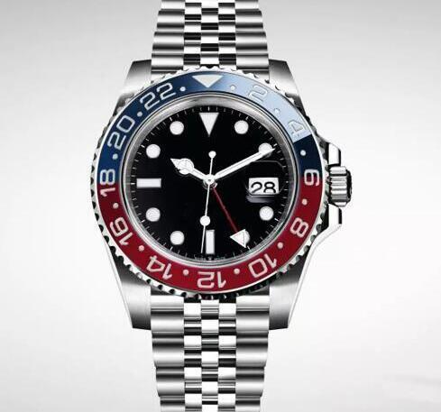 Armbanduhr-Basel-rote blaue Edelstahl-Uhr 126600 der neuen Luxusmänner der Uhr-2019 neue Uhr der automatischen Bewegungs-Männer-neue Ankunft geben Verschiffen frei