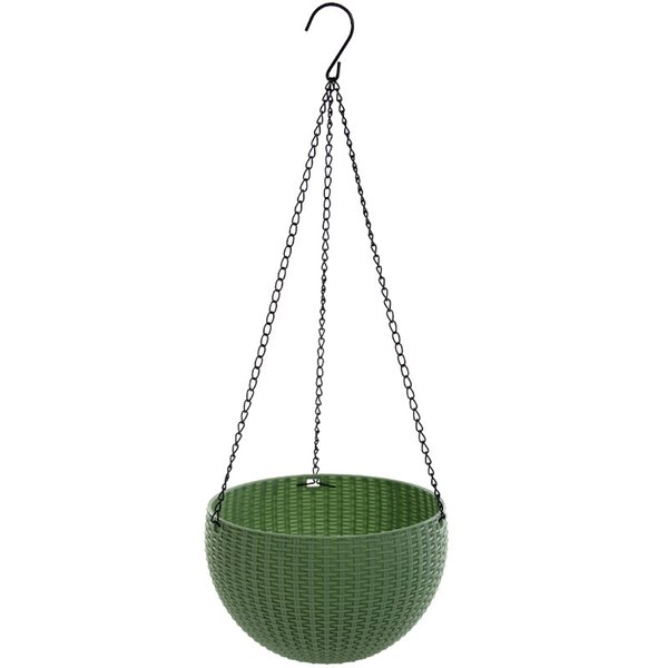 Plastic Candy Color Pots Weave Hanging Basket Flowerpot Basin Retro Fashion For Garden Multiple Size 12 8wx3 UU