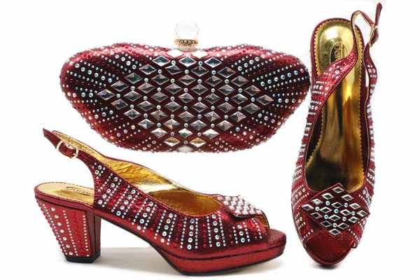 2019 Women Shoes And Bag Set African Sets High Quality Italian Shoes And Bags To Match For Ladies African Party Nigerian Style Shoes Saltwater Sandals