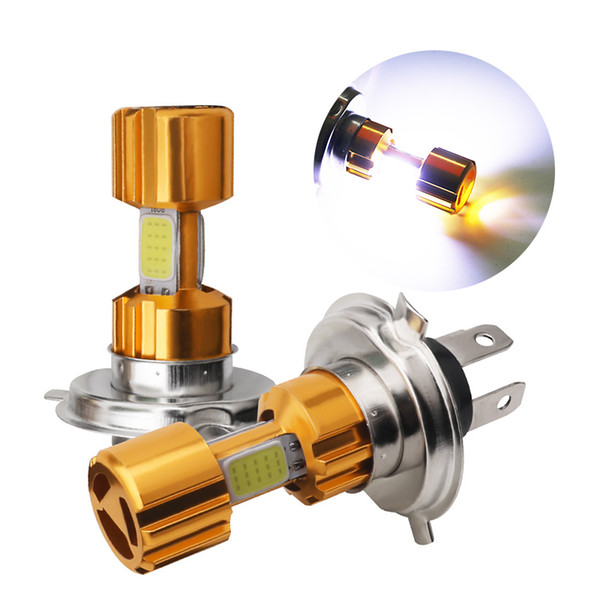 top popular 2Pcs LED H4 Motorcycle Headlight Bulbs DC 12V Scooter Accessories Motorcycle Driving Lights HS1 LED Hi-Lo lights Moto Bulbs 6000K 2020