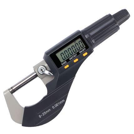 best selling High quality 0-25mm Micron Digital outside Micrometer Electronic micrometer caliper gauge 0.001mm digital gauge measuring tools