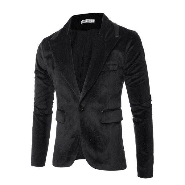 Mens business comfortable casual blazers slim fit blazer spring autumn outwear coat velvet fashion Suit dropshipping hot sale
