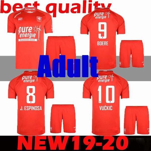 Футбольные майки Twente AITOR 2019 2020 19 20 красные футболки для взрослых Twente home OOSTERWIJK BOERE LAUKART SELAHI Футбольные майки для взрослых