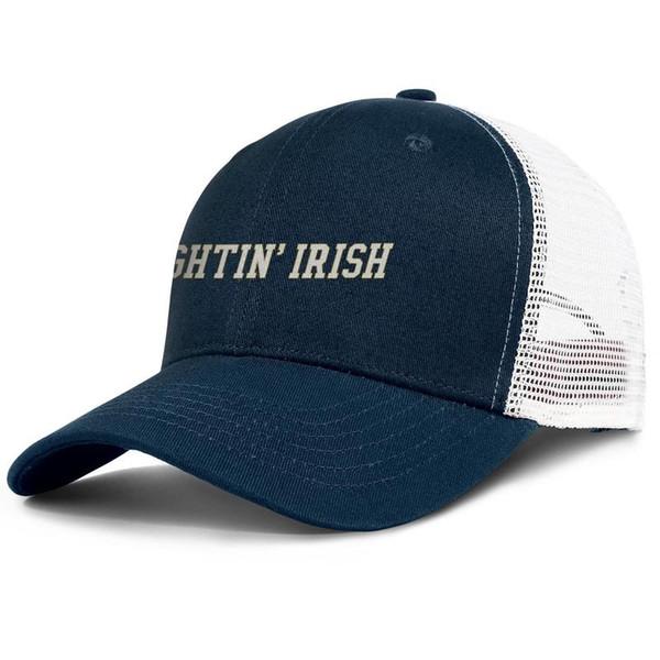 Notre Dame Fighting Irish football logo dark_blue mens and womens sports ball caps custom Fashion mesh cap Soft trucker caps